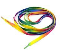 Pair Flat Rainbow Pride Shoe Laces Long Shoelaces Bootlaces 112cm L 8mm W