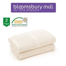 COT BED BLANKET BABY BEDDING CREAM BRAND NEW PACKAGED CELLULAR BREATHABLE BLANKE