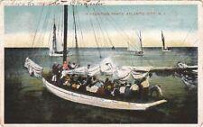 Postcard A Yachting Party Atlantic City NJ 1907