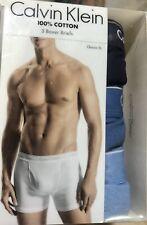 Brand New Calvin Klein 100% Cotton Boxer Briefs Sz Large $39.50 Value 3 Pack