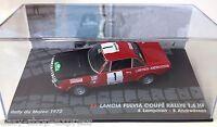 VOITURE RALLYE 1/43 LANCIA FULVIA COUPE 1.6 HF RALLY MAROC 1972 LAMPINEN IXO CAR