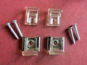 Mirror & Glass Hanging Kit Wall Bracket Clips Set + Screws