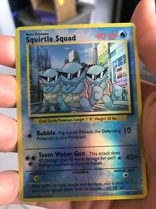 Squirtle Squad Holographic Orica Pokemon Card