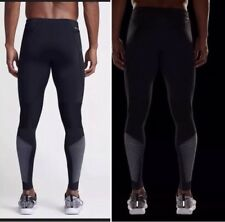 Nike Power Flash Tech Running Mens Tights Black Size XL