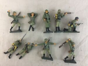 Lot 9 Vintage Lineol Germany Composition German Soldiers