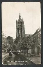 Delft  Oude Delft met Oude Kerk