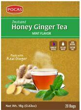 Instant Honey Ginger Tea MINT 20 Tea bags - Pocas