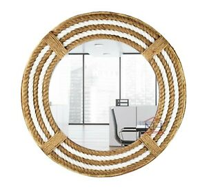 """18"""" Nautical Theme Rope Mirror, Home Décor Large Mirror, Vanity Rope Mirror,"""