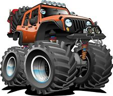 """MONSTER TRUCK Edible Icing Cake Topper 7.5"""" ROUND **FREE POST**"""
