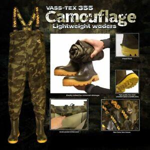 Vass 355 Lightweight Camo Chest Wader VA355-70E *All Sizes* NEW Carp Fishing