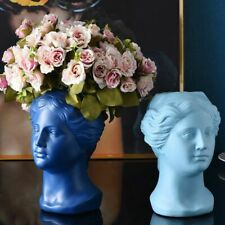 Vase Flower Nordic Style Resin Home Decoration Figurine Human Face Wedding Decor