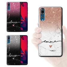 Personalizado personalizado letra Brillo Ombre Mármol teléfono caso cubierta de teléfono inteligente
