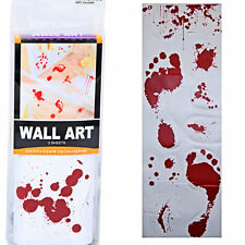 Bloody Footprints Wall Decals Halloween Decorations 2 sheets 24.7 x 69.8 cm