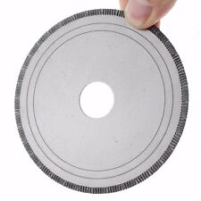 """4"""" Notched Rim 1.3mm Diamond Lapidary Rock Slab Saw Blade Arbor Hole 20mm With"""