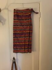 Vintage Santa Fe Style Boho Skirt Wrap Long Medium