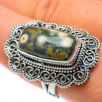 Large Ocean Jasper 925 Sterling Silver Ring Size 9 Ana Co Jewelry R50671F