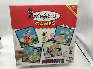 Vintage Colorforms Peanuts Charlie Brown Snoopy Stick-on Pieces NIB 1999 Game