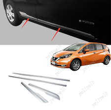 Mirror steel Side Door Body Moulding Trim For 2017-2019 Nissan Versa Note Hatch