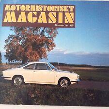 Motorhistoriskt Magasin Magazine Jimmy Lindell Triumph TR2 No.1 1995 071017nonrh