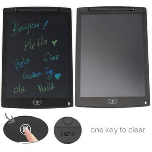 """12"""" LCD Writing Tablet Board Blackboard Graphics Pad for Drawing Memo Doodle"""