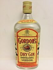 1 Bouteille de GORDON'S DRY GIN Distillery London England 60 ans d'âge 1960's