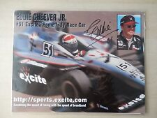 "Eddie Cheever Autographed 11"" X 8 1/2"" Photo Slick"