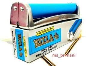 GENUINE RIZLA KING SIZE ROLLING MACHINE Cigarette TOBACCO PREMIUM METAL FAG