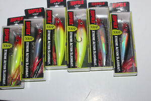 lot of 6 RAPALA XR-10 FISHING LURES
