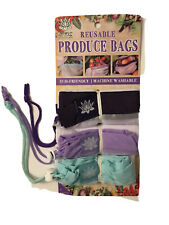 New listing Lotus Reuseable Produce Bags Eco Friendly Machine Washable. Sizes Sm, Med, Lg