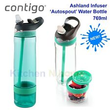 Contigo Ashland Infuser Sport Water Bottle, autospout 769ml-Jade