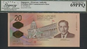 TT PK 63 2019 SINGAPORE 20 DOLLARS Y. ISHAK LCG 69 PPQ HIGHLY COVETED GRADE WOW!