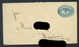 Guatemala. Brief mit Wertstempelaufdruck, aus 1895 #m427