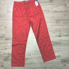 Polo Ralph Lauren Men's Large Pony Flannel Pajama Lounge Pants Red NWT