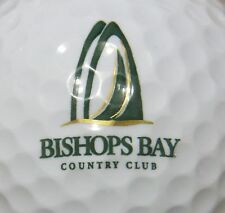 (1) Bishops Bay Country Club Madison Wi Golf Course Logo Golf Ball