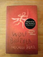 SIGNED 1ST / 1ST EDITION of WOLF BROTHER. MICHELLE PAVER. FIRST PRINTING. 2004.