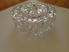 WATERFORD Octagon Shaped Crystal Covered Box  W 080.113.0045 Product Of Ireland