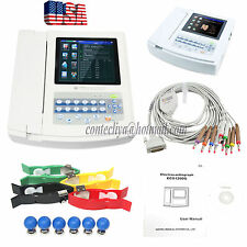 CONTEC ECG1200G Digital 12 channel/lead EKG+PC Sync software, Electrocardiograph