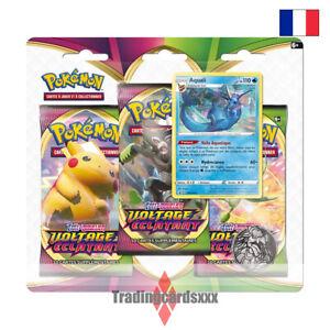 Pokémon - Tri Pack 3 boosters EB04 Épée et Bouclier Voltage Éclatant: Aquali