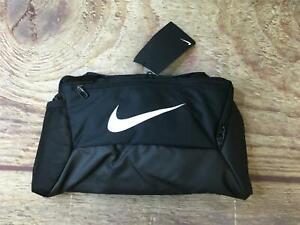 Nike Size XS Black/White Brasilia Training Duffel Bag NWT