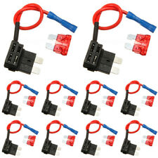 10X Car Add-a-circuit Fuse Fuses TAP Adapter ATO ATC Auto Blade Fuse Holder New