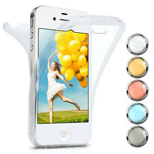 360 Degree Complete Protection Case For Apple IPHONE 4S/IPHONE 4 Silicone Skin