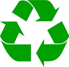 Recycle Symbol Vinyl Decal Sticker Work Home Renew and Reuse PICK SIZE & COLOR