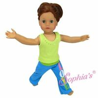 """Doll Clothes 18"""" Pants Yoga Tank Lime Fits American Girl Dolls"""