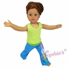 """Doll Clothes Fit AG 18"""" Pants Yoga Tank Lime Made To Fit American Girl 18"""" Dolls"""