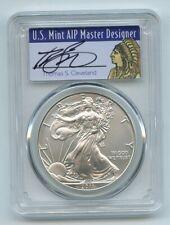 2011 W $1 Unc Burnished Silver Eagle 1oz PCGS SP70 Thomas Cleveland Native