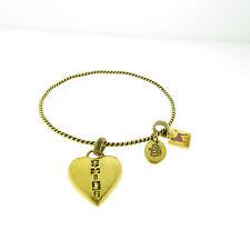 Choose Juicy Heart Dog Charm Bangle Bracelet
