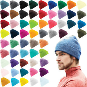 BEECHFIELD Original Cuffed Beanie Double Layer Knit Hat Winter B45