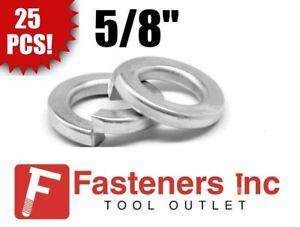 """(Qty 25) 5/8"""" Regular Medium Standard Split Lock Washers Zinc Plated"""
