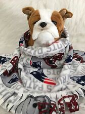 New England Patriots White,Fuzee Fleece Dog Blankets,Soft Pet Blanket Throw Cove