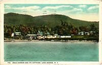 Vintage Postcard - 1925 Snug Harbor Cottages Lake George New York NY #4233